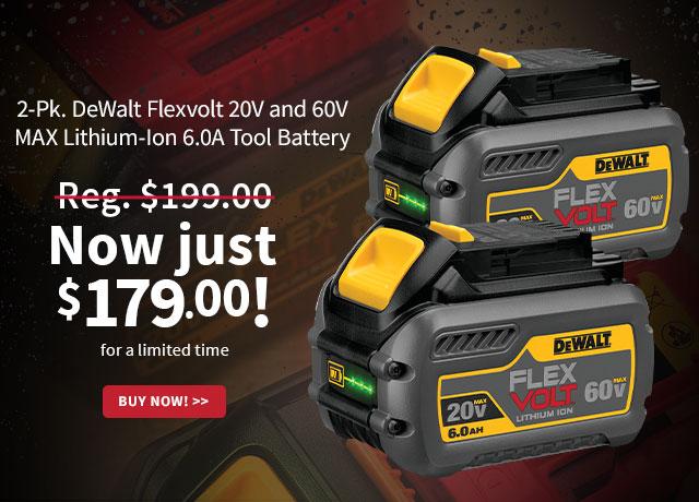 DeWalt Flexvolt Batteries