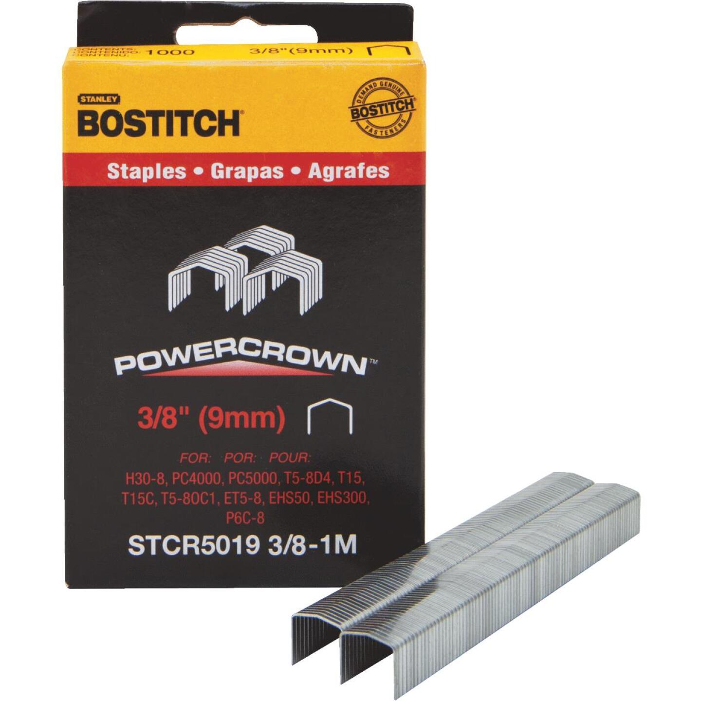 Bostitch Powercrown Hammer Tacker Staple, 3/8 In. (1000-Pack) Image 1