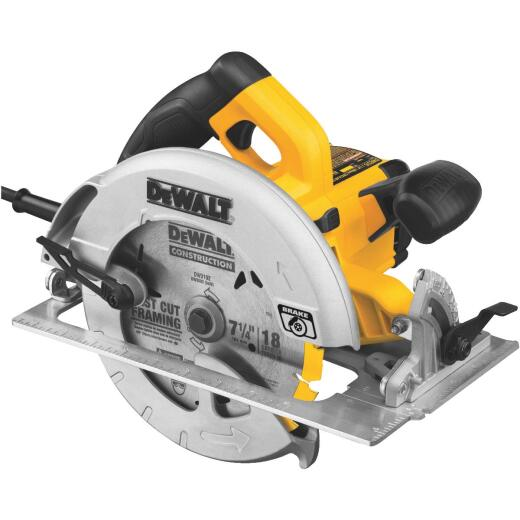 DeWalt 7-1/4 In. 15-Amp Circular Saw with Electric Brake
