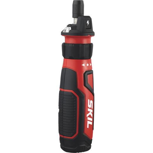 SKIL 4-Volt Lithium-Ion 1/4 In. Hex Cinch Load Rechargeable Cordless Screwdriver w/Circuit Sensor