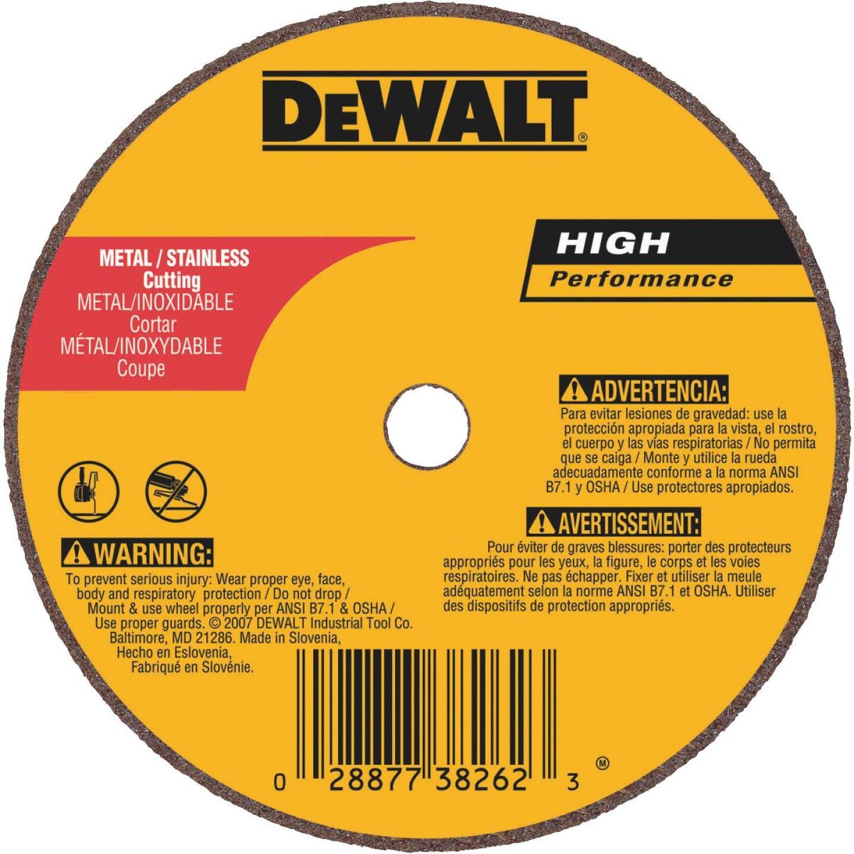 DeWalt HP Type 1 4 In. x 0.035 In. x 5/8 In. Metal/Stainless Cut-Off Wheel Image 1