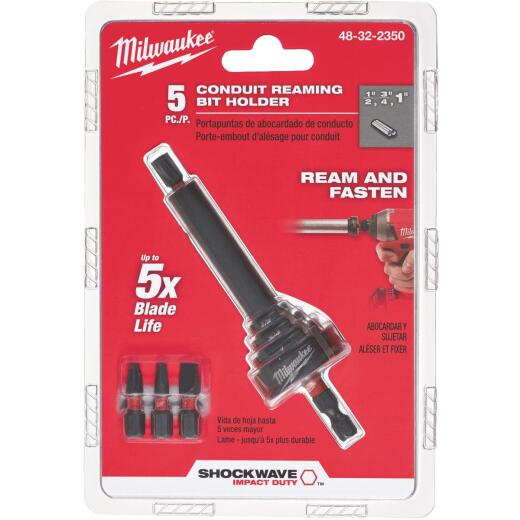 Milwaukee Shockwave 1/4 In. Hex x 4 In. Conduit Reaming Bit Holder