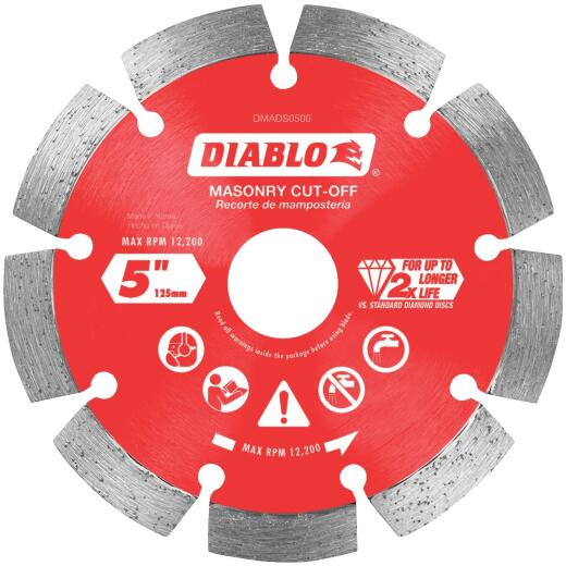 Diablo 5 In. Segmented Rim Dry/Wet Cut Diamond Blade