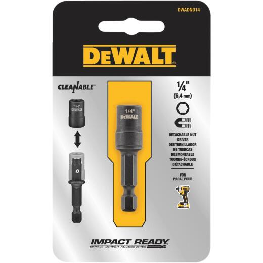 DeWalt Impact Ready 1/4 In. x 2 In. Cleanable Magnetic Nutdriver