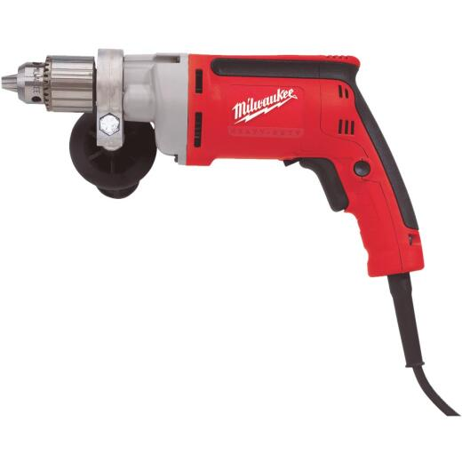 Milwaukee Magnum 1/2 In. 8-Amp Keyed Electric Drill with Tactile Grip