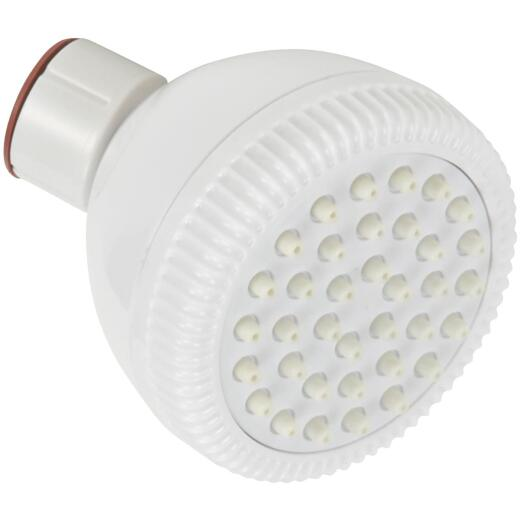 Home Impressions 1-Spray 1.75 GPM Fixed Showerhead, White