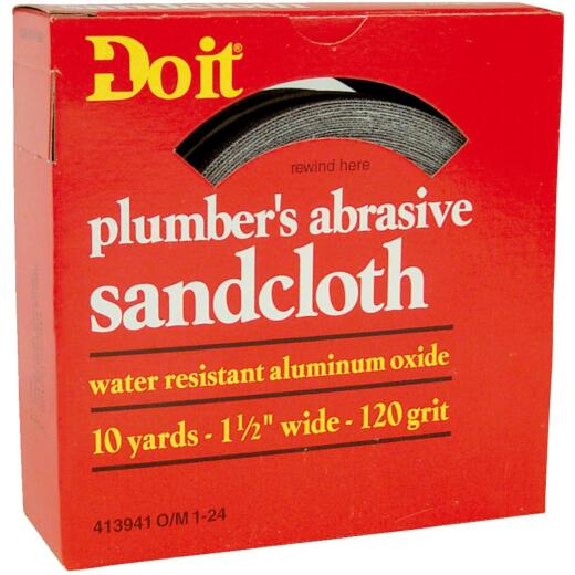 Do it 1-1/2 In. x 10 Yd. 120-Grit Plumber's Abrasive Sand Cloth