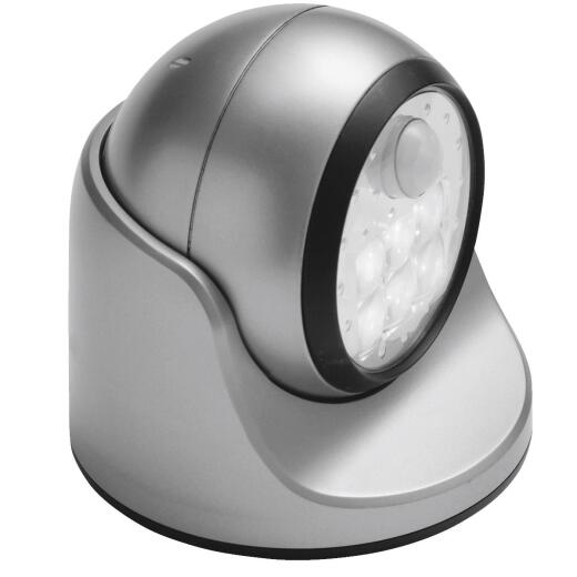Light It Silver 100 Lm. LED Battery Operated Security Light Fixture