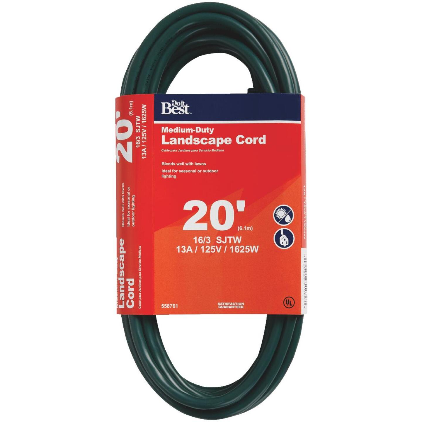 Do it Best 20 Ft. 16/3 Landscape Extension Cord Image 1