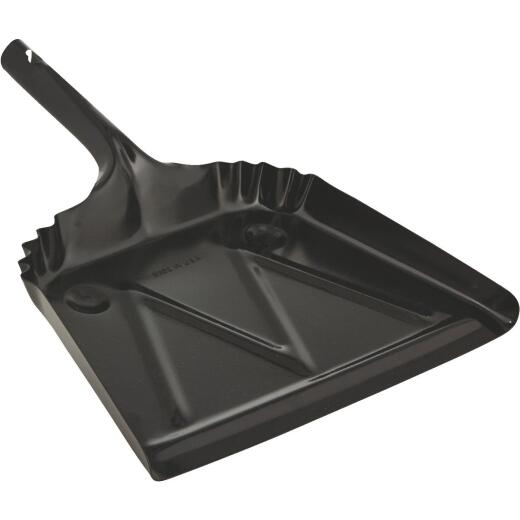 Impact 12 In. Black Steel Heavy-Duty Dust Pan