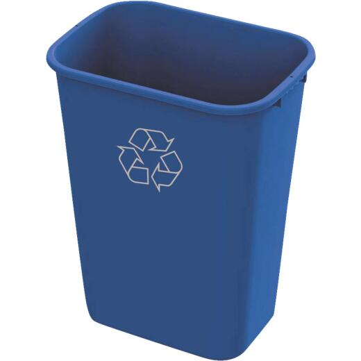 Impact 41 Qt. Blue Plastic Recycle Wastebasket