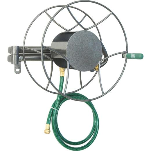 Yard Butler 100 Ft. x 5/8 In. Steel Swivel Wall Mount Hose Reel