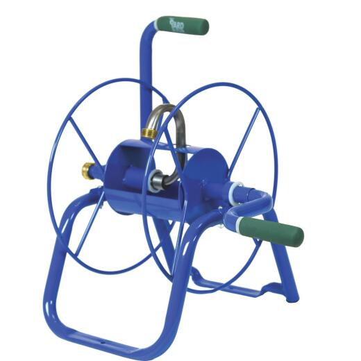 Yard Butler Handy Reel 75 Ft. x 5/8 In. Blue Steel Hose Reel