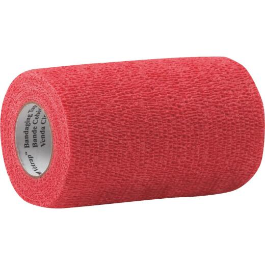3M Vetrap 4 In. x 5 Yd. Red Bandaging Wrap