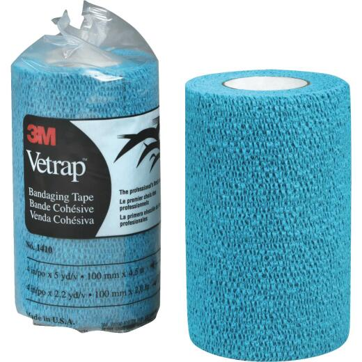 3M Vetrap 4 In. x 5 Yd. Blue Bandaging Wrap
