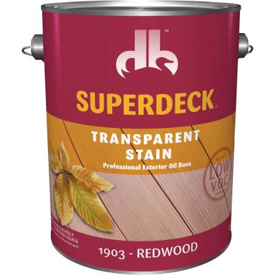 Duckback SUPERDECK VOC Transparent Exterior Stain, Redwood, 1 Gal.