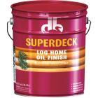 Duckback SUPERDECK Translucent Log Home Oil Finish, Amber Hue, 5 Gal. Image 1