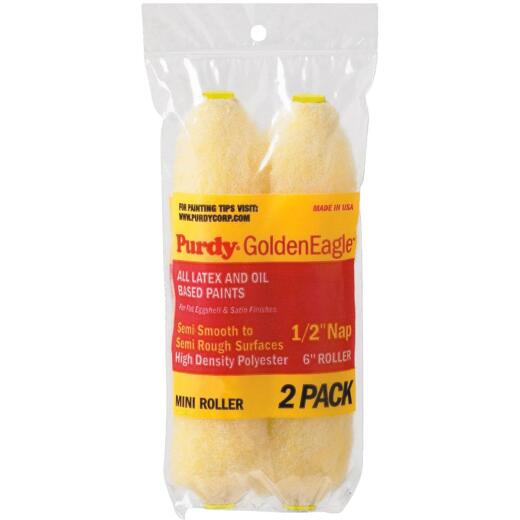 Purdy Golden Eagle 6-1/2 In. x 1/2 In. Mini Knit Fabric Roller Cover (2-Pack)